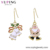 YMearring-352 XUPING Christmas Gift Santa Claus Style 14k Gold Plated Hook Earrings For Women Girls