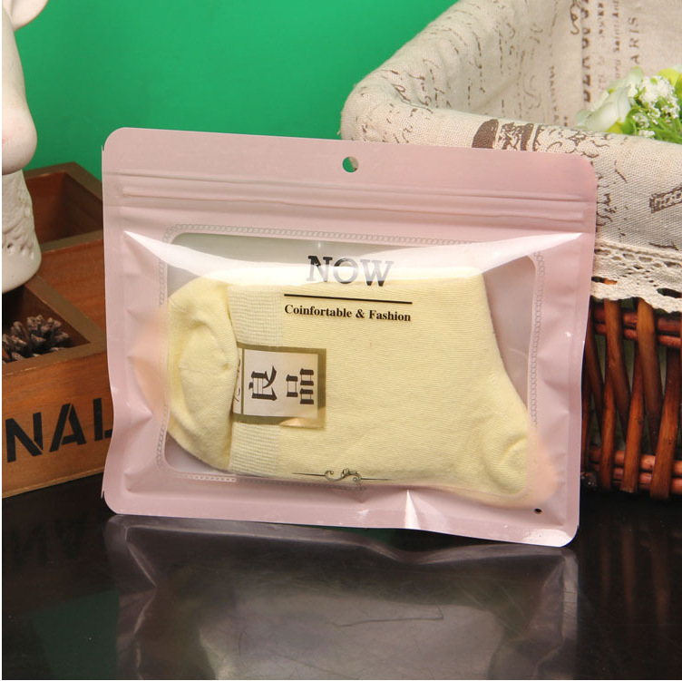 Hand Loop Nonwoven Ziplock Travel Transparent Handbag Clothing Packaging Bag
