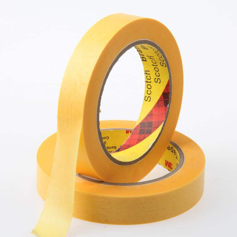 3m 244 Cheap Price Custom Colored Printed car paint home decorate heat resistant crepe paper Masking Tape
