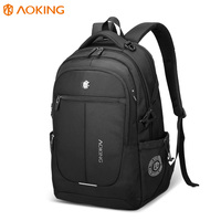 AOKING Durable men casual Lightweight mochilas computer usb smart Waterproof mochilas rucksack 19 inch bag black laptop Backpack