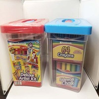 factory directly 64 crayons deluxe artist kit