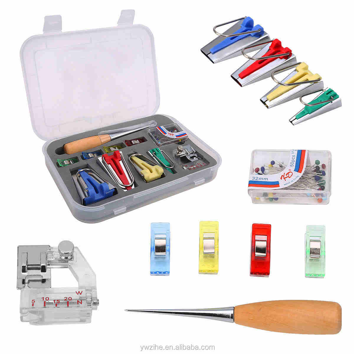 Durable Sewing Machine Tools Practical Sewing Bias Tape Maker Kit Multifunction Household DIY Craft Quilting Tool