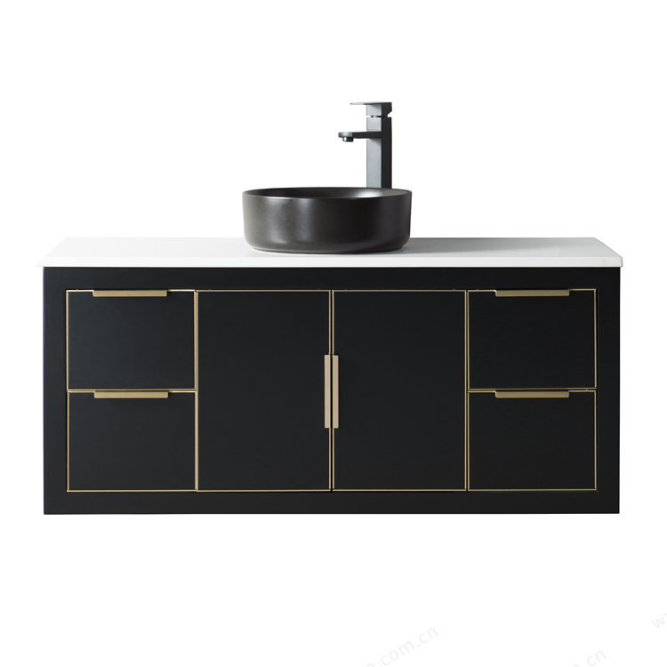 Modern french bathroom wash basin cabinet <strong>design</strong> wall mount bathroom vanity cabinet