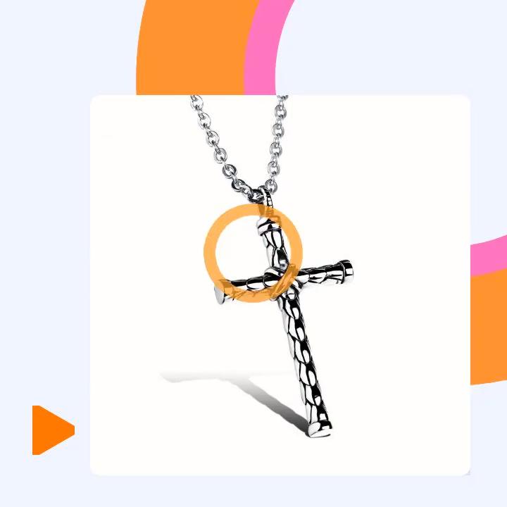 316L Edelstahl männer Halskette Charme Kreuz Anhänger Fisch Waagen Antike Silber Kette Schmuck