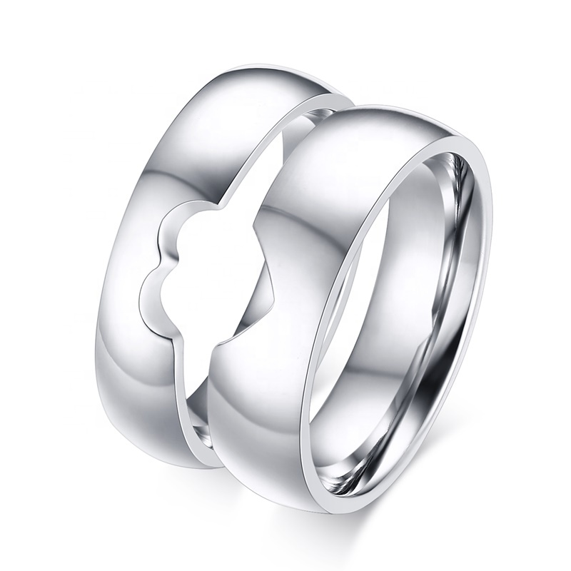 6mm Mens Heart Shaped Titanium Stainless Steel Couple Rings <strong>for</strong> <strong>Him</strong> and Her 5mm Womens <strong>Valentines</strong> <strong>Day</strong>