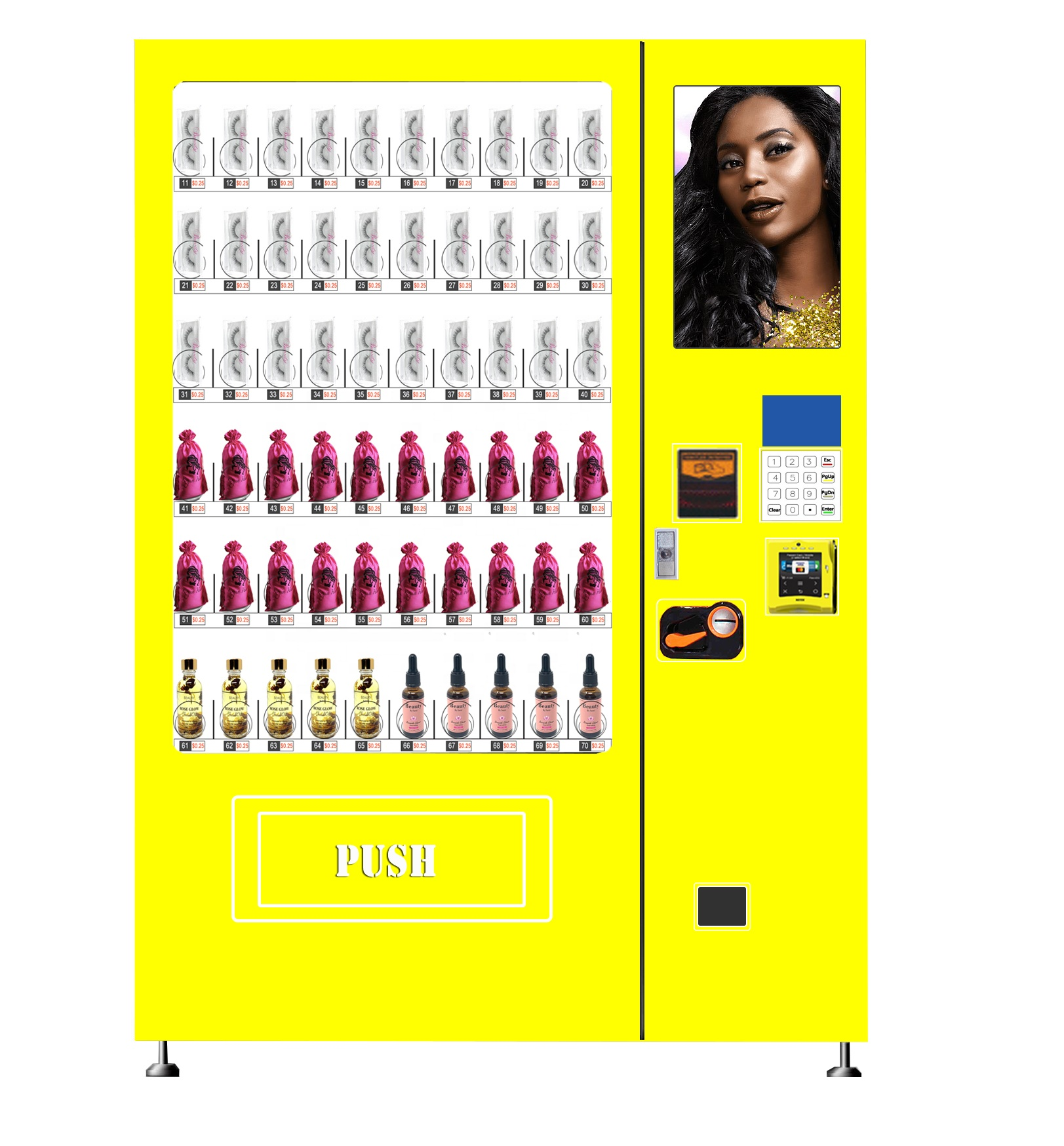 Custom design Pink makeup vending machine for shopping mall
