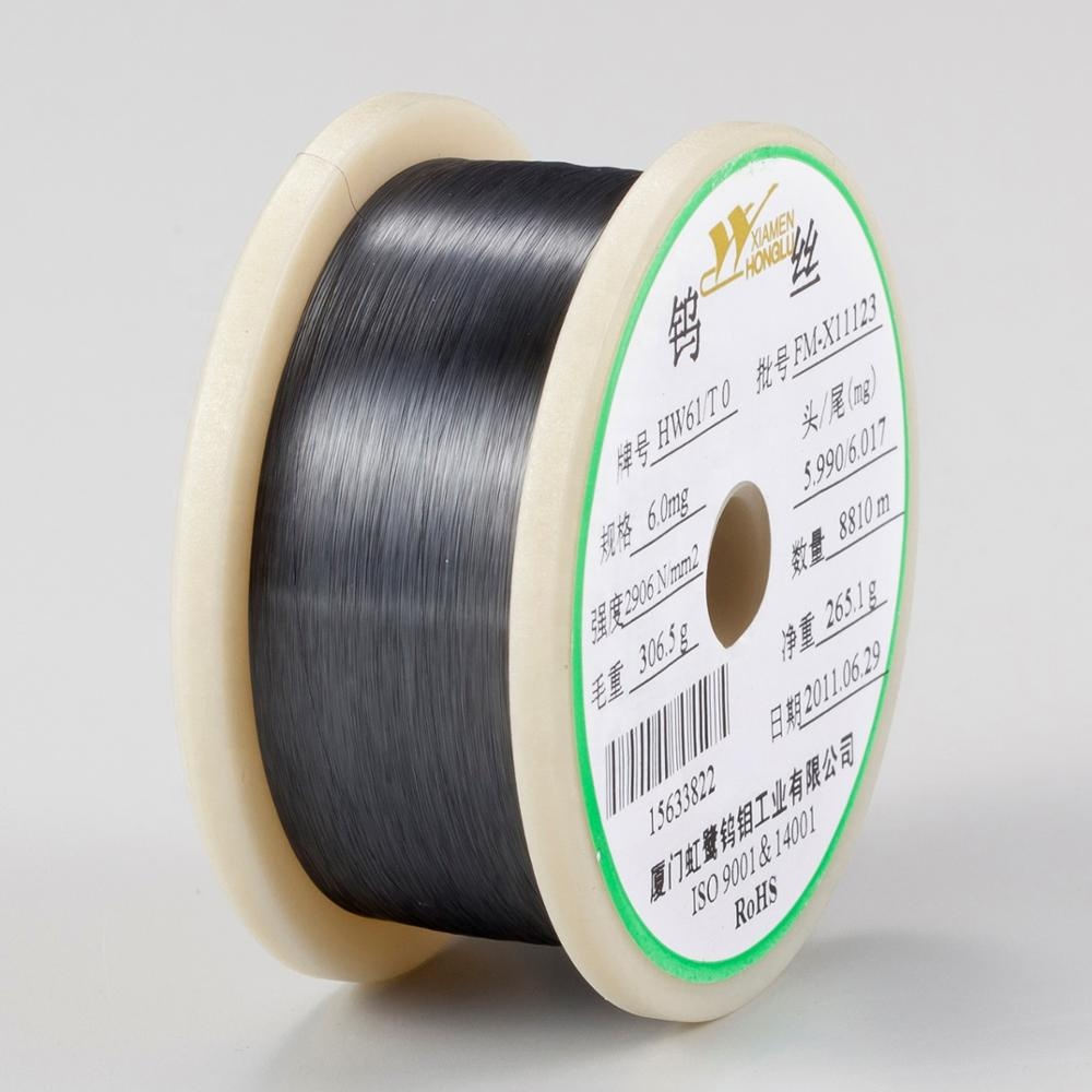Tungsten wire for lamp