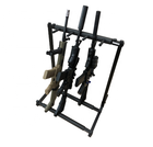 High quality 3 seats hunting rifle vertical gun weapon rack shotgun display stand