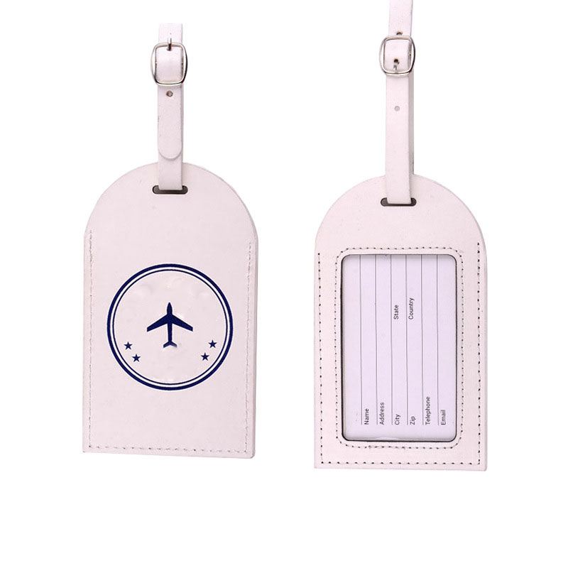 custom shape and picture pu leather digital print luggage tag