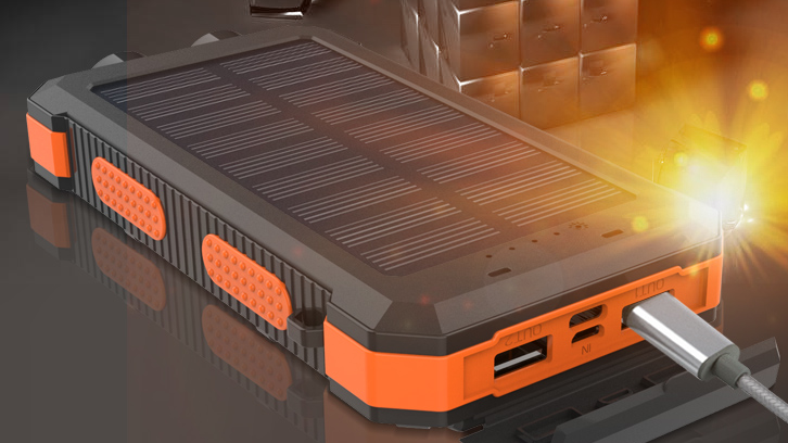 Ad alta Capacità 20000 mAh Caricatore Solare Portatile della banca di Potere 20000 mah Banche di Ricarica di Alimentazione Pannello Solare PowerBank con la Bussola