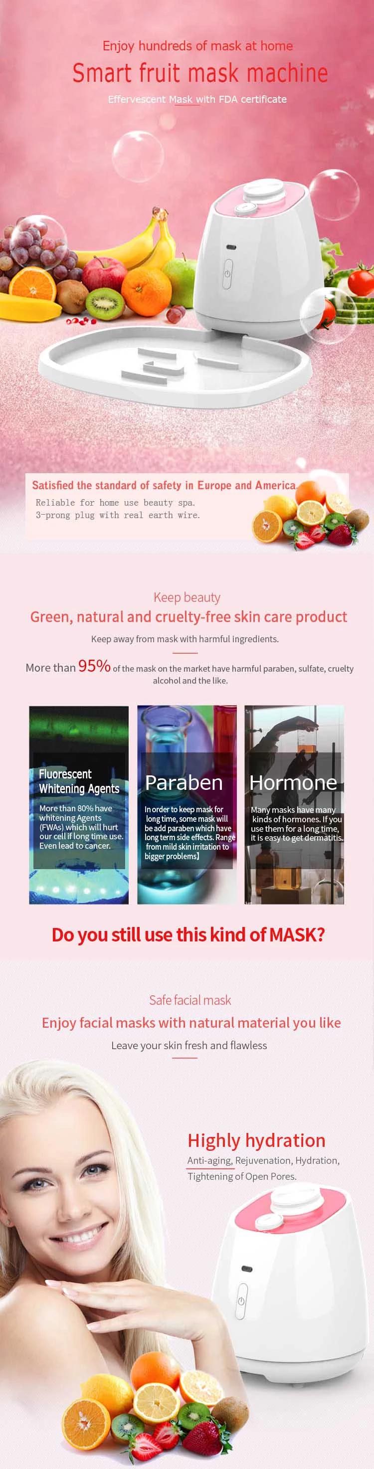 CVB-850 Smart Home use Automatic diy face beauty skin care Collagen fruit vegetable natural facial mask maker machine