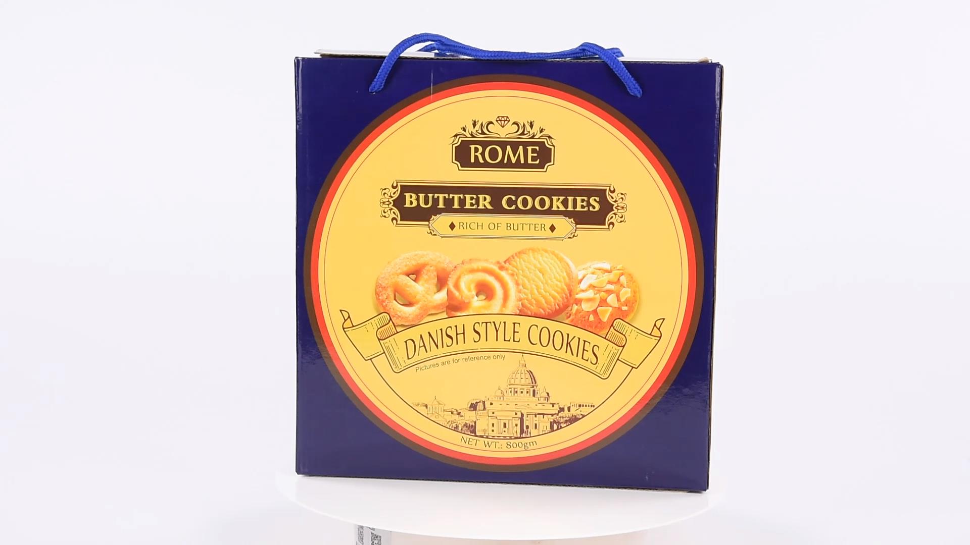Turc Malaisie biscuits au chocolat biscuits halal 908g royal Danisa beurre boîte à biscuits