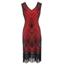 Ecoparty Gatsby Flapper Club Kleid Plus Größe S M L XL XXL