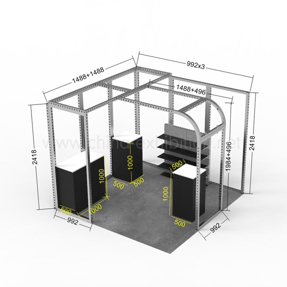 2020 New Custom 3X3 Aluminum China Display <strong>Stand</strong> Design Expo Trade Show Exhibition <strong>Booth</strong>
