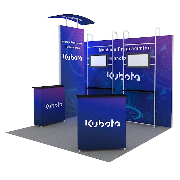 Custom tension fabric portable exhibition aluminum trade show <strong>booth</strong> 10x10FT <strong>stand</strong>