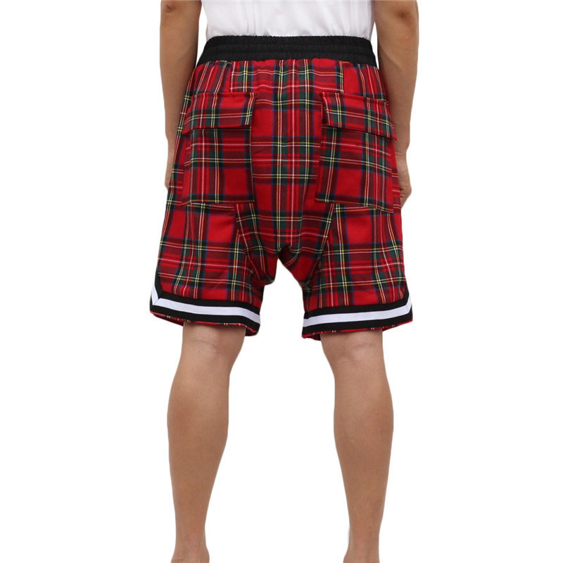 Wholesale fashion Sweat Shorts Plaid Running Gym Shorts Men