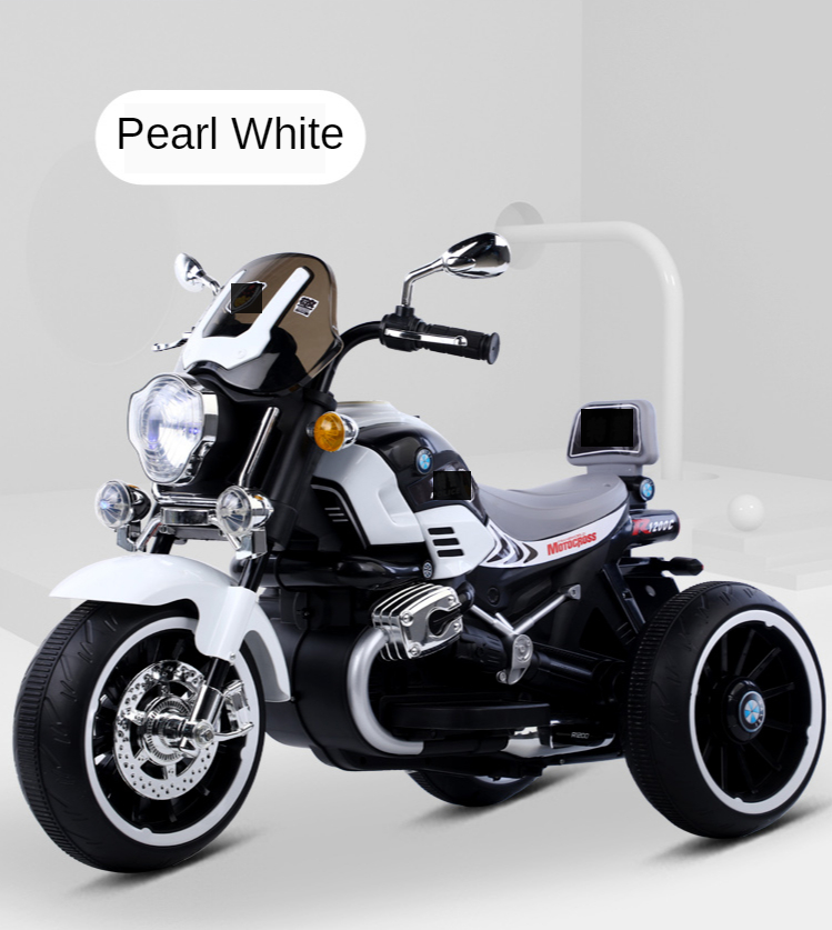 Red , white , blue color plastic child electric motorcycle toy car for 5-9 years kids