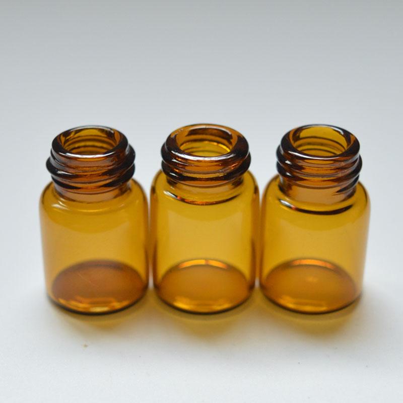 Amber şeffaf cam uçucu yağ sıvı damlalık şişesi mini şeffaf cam parfüm örnek şişesi