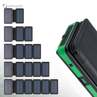2019 New Product Outdoor Folding Solar Panels Mobile Power Bank Help Light High Power Folding 4 Section Solar Energy Power Bank