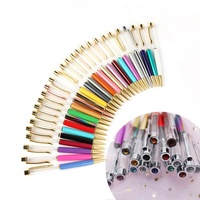Hot Ball Pens Personalised Custom Metal Floater Glitter Pen Diamond Crystal Tip Diy Barrel Empty Tube Ballpoint Pen