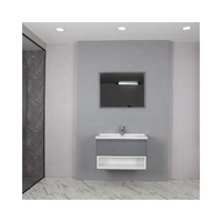 Hot new style wall-mounted modern bathroom vanity unit cabinet set with LED mirror