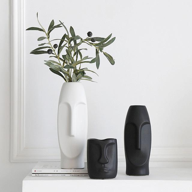 New design ceramic home decor luxury with 3D face design art decorative accessories for home
