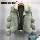 Leather Sheepskin Jackets Fashion Real Fox Fur Motorcycle Leather Fur Coat Sheepskin Women Winter Jackets And Coats