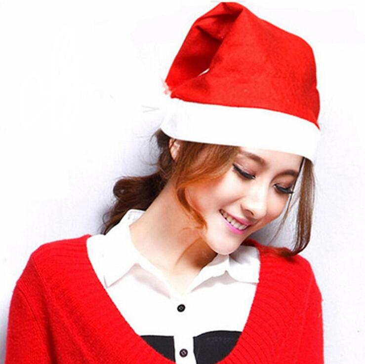Factory Direct Wholesale customize size red christmas hats Christmas Decoration Kids Adult Christmas Hat for cheap price