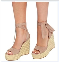 Blockbuster european and american nice women sexy super high heels shoes laddies platform espadrilles wedge plus size sandals