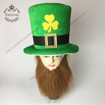 Funny Clover Green Leprechaun Top Hat Headband Irish St Patrick's Day Party Decoration Decor