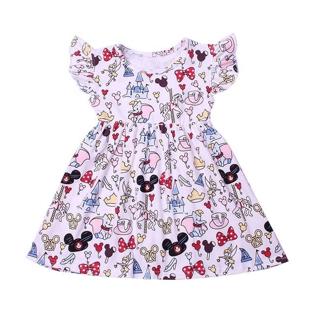 Baby Girl Clothes Fruit Printed Infant Outfit Sleeveless Princess Mini Dress New