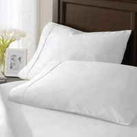 Popular European Style Plain federa White Organic Cotton Pillow Case for bedding set