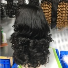 Wigs Quality Wigs Factory Wholesale Lace Front Wigs Bouncy Wave Super Double Drawn Quality Cuticle Aligned Swiss Lace Wigs