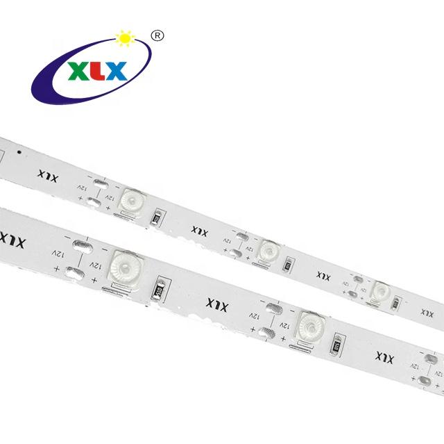 Factory Manufacture 12V SMD6060 W Type White  3000k 6000k 11000k  Flexible Lens LED Strips Light