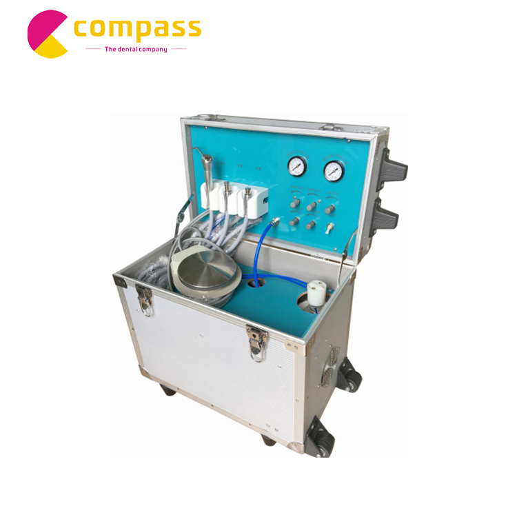 Foshan kompas Econormical draagbare dental unit met de luchtcompressor china fabrikant