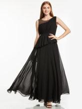 Dressv длинное вечернее платье красное без рукавов ТРАПЕЦИЕВИДНОЕ ПЛАТЬЕ длиной до пола женское черное шифоновое ДРАПИРОВАННОЕ вечернее плат...(Китай)