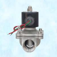 "2/2 way direct-acting DN25 1"" inch normally closed Orifice 25mm stainless steel 304 DC24V solenoid valve"