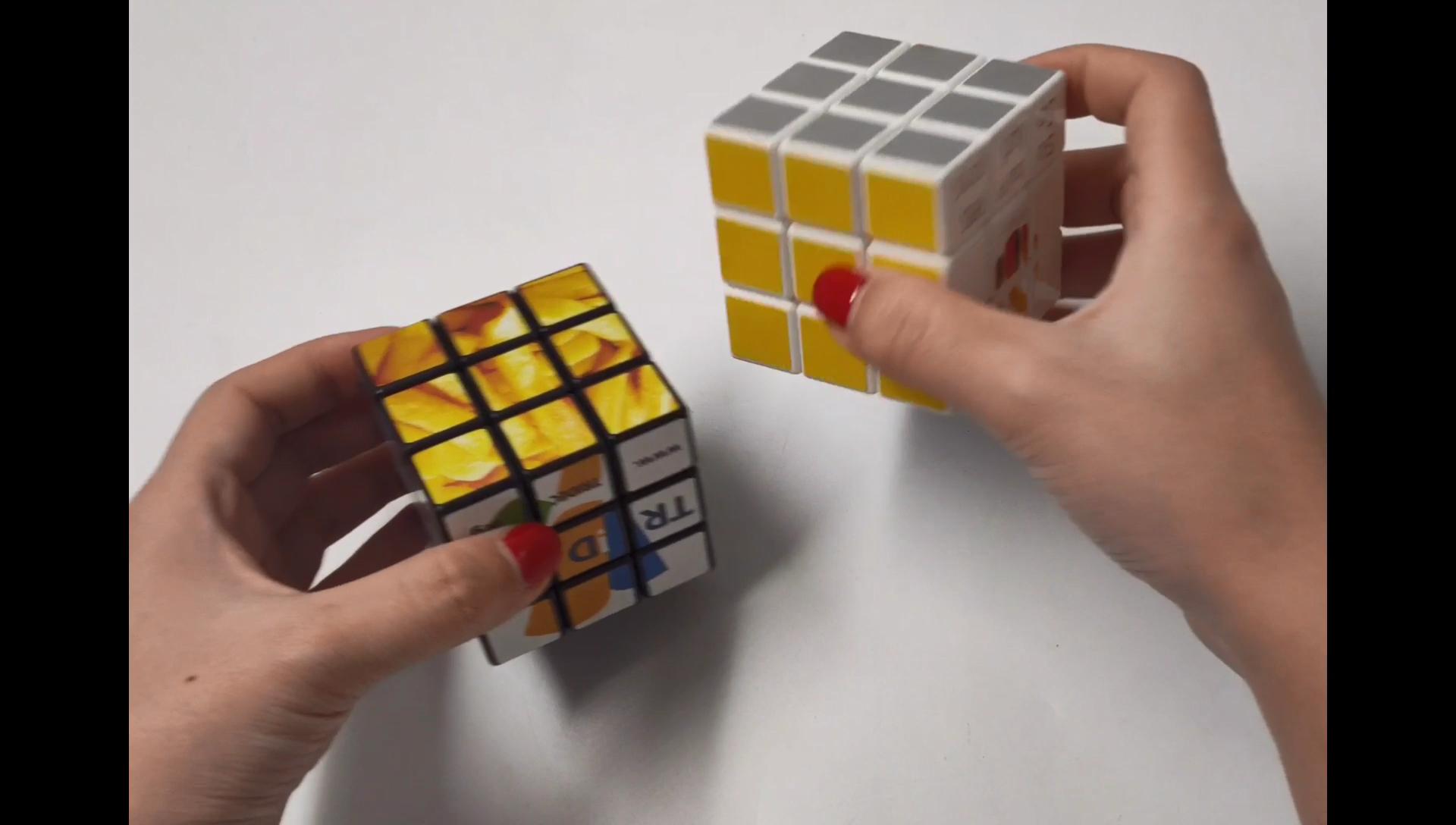 Promosi foto oem hot 3x3 custom mainan puzzle iklan tanpa stiker magic cube dengan logo