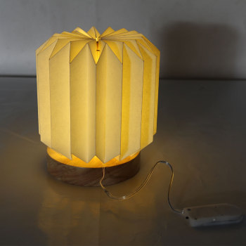 Sunbeauty Patent Wholesale Custom Home Decor Handmade Folded Led Light Shades Paper Lamp
