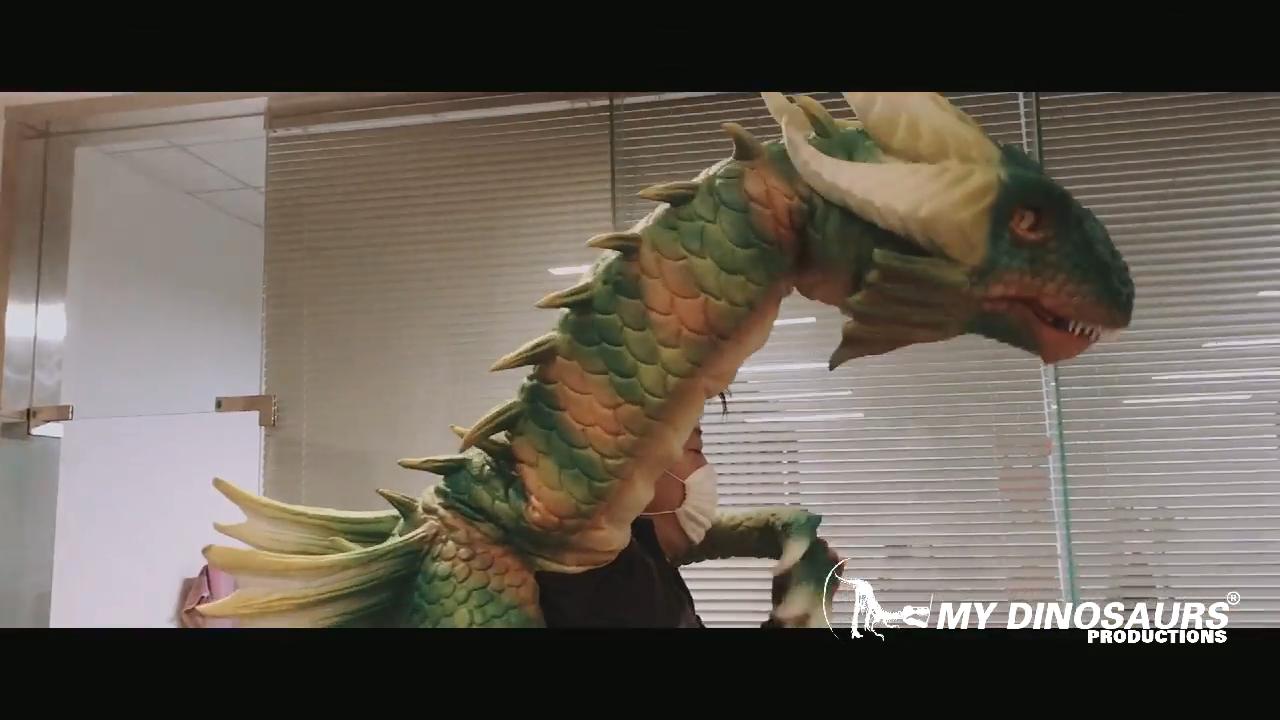 MIJN DINO P050 Kopen Schouder Marionet Geanimeerde Dragon Schouder Marionet voor Thema Park