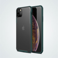 Translucent Frosted Shockproof Protective Phone Case Cover Soft TPU Black Frame with Hard Back new for iphone 11 case