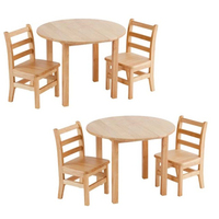 KB432 Wood Children Home Furniture Table Chair Set