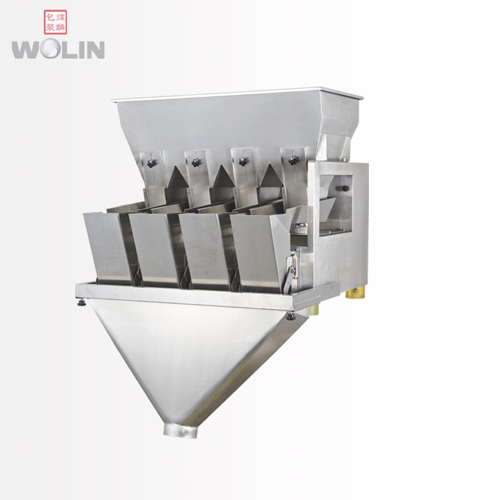 Plug to run intelligent vibratory 1 2 3 4 head electrical linear Weigher <strong>scale</strong> for 5-2kg fine small granules rice seed beans