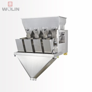 Plug to run  intelligent vibratory 1 2  3 4 head electrical  linear Weigher scale for 5-2kg fine small granules rice seed beans