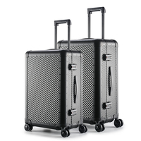 Glary Wholesale fashion professional hard travel bag luggage case with aluminum frame