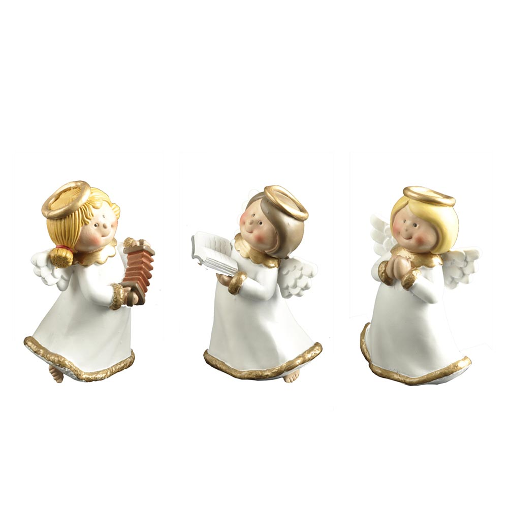 Wholesale Popular Playing Music Reading Praying Resin Angel Figurines Cherub Statue