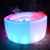modern plastic material RGB light illuminated furniture glowing led bar counter stool
