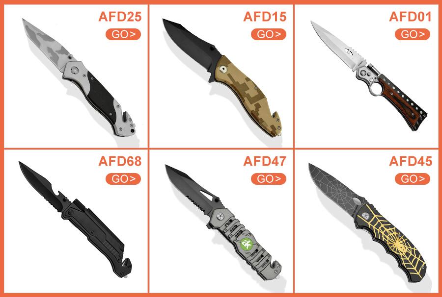 Siyah Kaplamalı ve yarı tırtıklı bıçak paslanmaz çelik cep ABS kaplama saplı Katlanır bıçak