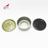 in stock metal ring pull tin can 100ml empty tuna cans for fish TC-8888A