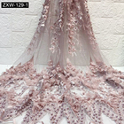 Lace Fabric 3d Lace Bridal 3d Lace Fabric Factory Price Noble Bridal Lace Gowns Dress Fabric 3D Flower Beaded Lace Fabric With Stones